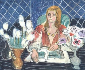 Annelies, White Tulips and Anemones - Image: Henri Matisse Annelies