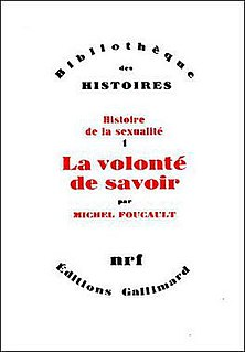 "4-volume study of sexuality in the western world by Michel Foucault, examining the emergence of ""sexuality"" as a discursive object and separate sphere of life, arguing that the notion that every individual has a sexuality is relatively recent"