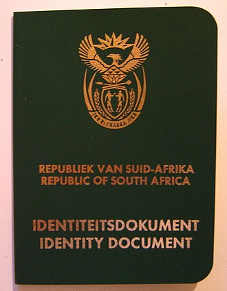 National identification number - South African identity document