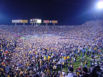 2004 Iowa Hawkeyes football team - Fans celebrate Iowa's victory over the Wisconsin Badgers.