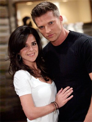 Jason Morgan and Sam McCall - Steve Burton and Kelly Monaco as Jason and Sam