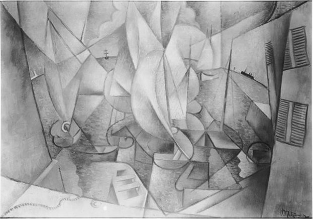 """Jean Metzinger, 1911-12, The Harbor, location unknown, reproduced in Du """"Cubism"""" 1912"""
