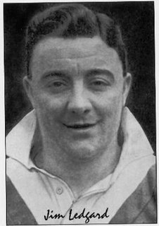 Jimmy Ledgard former GB & England international rugby league footballer