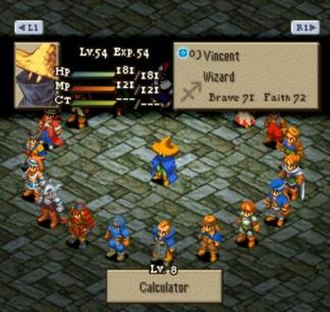 Final Fantasy Tactics - Final Fantasy Tactics offers a wide selection of Job Classes.  This particular character is currently a Wizard.