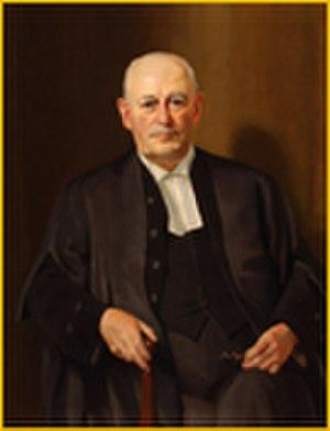 John Babington Macaulay Baxter - John B. M. Baxter as Chief Justice