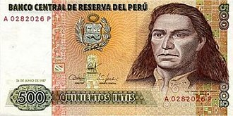 Peruvian inti - Image: Jose Gabriel Condorcanqui Tupac Amaru II