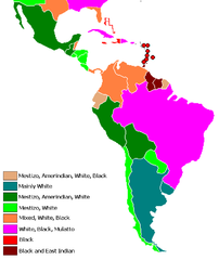 Latin American countries by racial groups