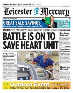 <i>Leicester Mercury</i> English daily newspaper