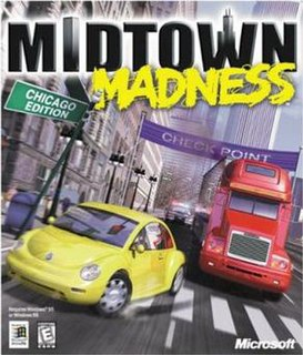 <i>Midtown Madness</i> racing video game