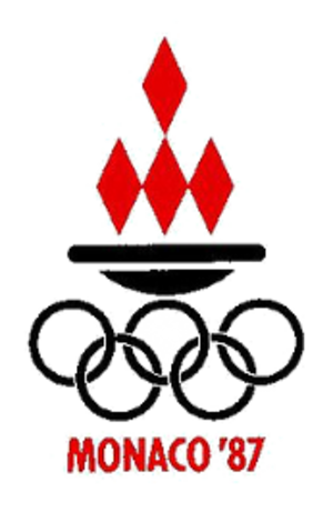 1987 Games of the Small States of Europe - Image: Monaco 1987logo