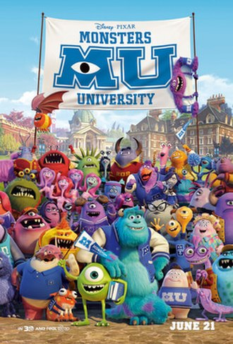 Monsters University - Theatrical release poster