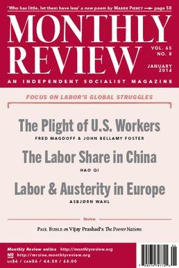 Monthly Review magazine cover-January 2014