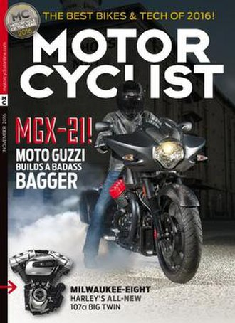 Motorcyclist (magazine) - Image: Motorcyclist November 2016 cover