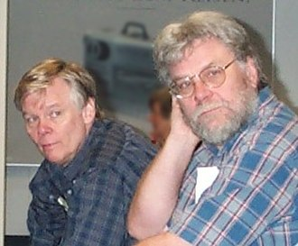 Myron W. Krueger - Myron Krueger (left) and Dan Sandin, at Ars Electronica '99