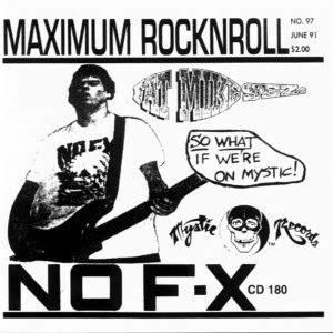 Maximum Rocknroll (album) - Image: NOFX Maximum Rocknroll cover