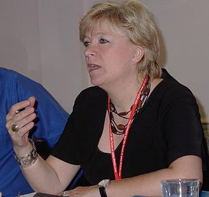 Polly Toynbee speaks at the October 2005 Labou...