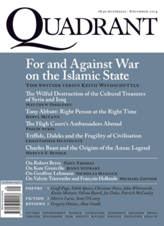 Quadrant (magazine) - Cover of November 2014 issue