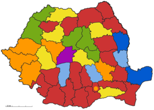 Romanian local elections, 2004 - Image: Romania counties map