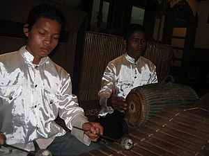 Music of Cambodia - The roneat has been described as a bamboo xylophone.