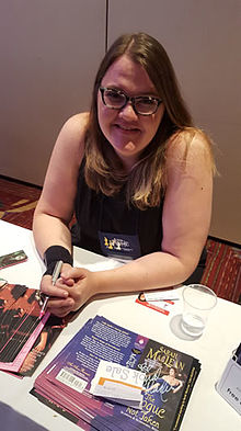 Sarah MacLean at the Romance Writers of America Conference, July 2015, New York, NY