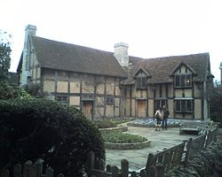 Shakespeare's House in Stratford-Upon-Avon. Now home of the Shakespeare's Birthplace Trust