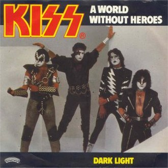 """Music from """"The Elder"""" - Australian single cover of the """"A World Without Heroes"""" b/w """"Dark Light"""" single."""