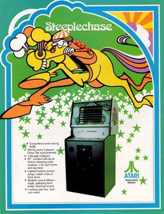 Steeplechase (video game) - Image: Steeplechase Arcade game flyer