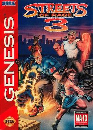 Streets of Rage 3 - North American cover art