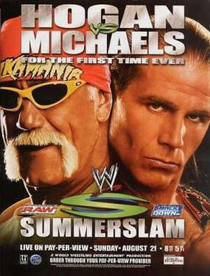 SummerSlam (2005) - DVD cover featuring Hulk Hogan and Shawn Michaels