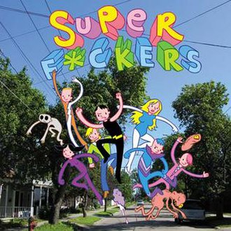 SuperFuckers - Cover of first comic book issue.