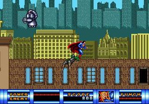 Superman (Sunsoft game) - Superman must confront some generic bad guys before being able to confront the end-level boss.
