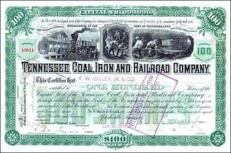 Tennessee Coal, Iron and Railroad Company - Image: Tenshare