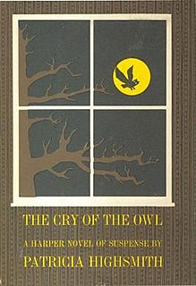 <i>The Cry of the Owl</i> psychological thriller novel by Patricia Highsmith