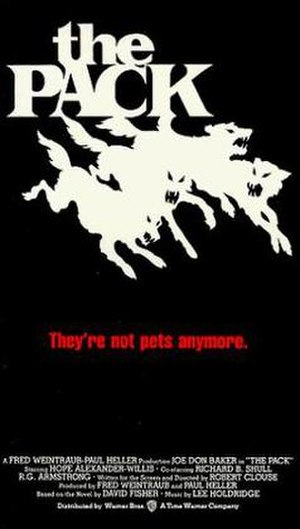 The Pack (1977 film) - VHS artwork.