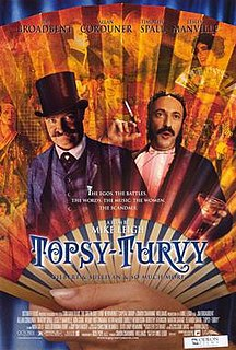 <i>Topsy-Turvy</i> 1999 film by Mike Leigh