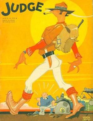 Vernon Simeon Plemion Grant - Vernon Grant's cover for Judge (March 19, 1932)