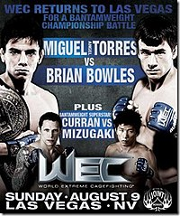 A poster or logo for WEC 42: Torres vs. Bowles.
