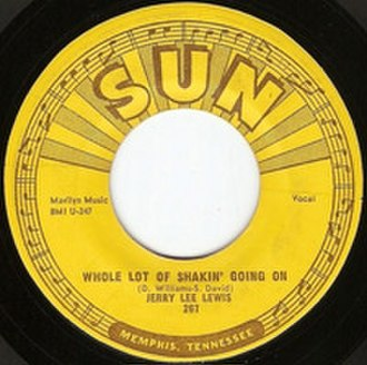 Whole Lotta Shakin' Goin' On - Image: Whole Lot of Shakin' Going On single