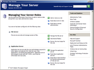 Windows Server 2003 - Manage Your Server