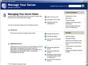 Windows Server 2003 - Manage Your Server