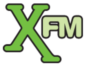 Radio X (United Kingdom) - XFM logo used from 2004–15.