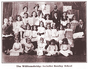 Williamsbridge, Bronx - Class of the Socialist Sunday School organized by Italian immigrants of Williamsbridge in the summer of 1911.