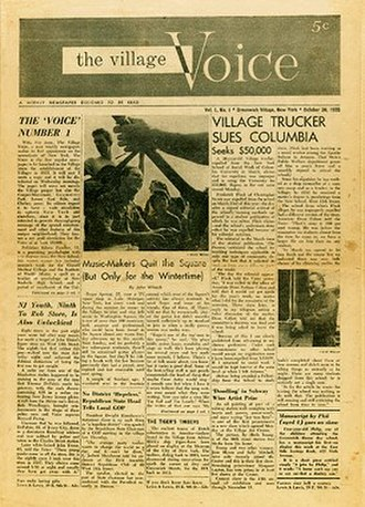 The Village Voice - Cover of the October 1955 issue