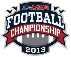 2013 Conference USA Football Championship Game - Image: 2013 Conference USA Football Championship Logo