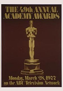 49th Academy Awards Academy Awards ceremony that took place in 1977