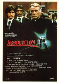 <i>Absolution</i> (1978 film) 1978 film by Anthony Page