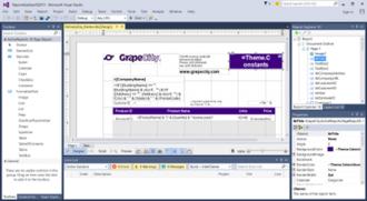 ActiveReports - Image: Active Reports 10 Designer in Visual Studio