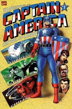 Adventures of Captain America - Cover for the first issue