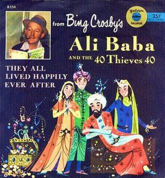 Ali Baba and the Forty Thieves (album) - Image: Ali Baba and the Forty Thieves (Bing Crosby album) (album cover)