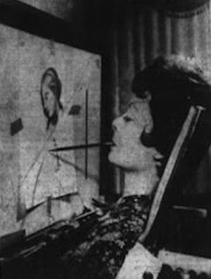 Ann Adams - Ann Adams drawing a picture, 1972